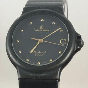 Vintage Daniel Mink Gold on Black Classic Watch